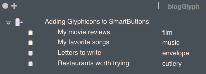 Adding Bootstrap Glyphicons to your SmartButtons is easy now.